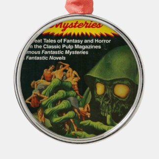Giant Green Ghoul Metal Ornament