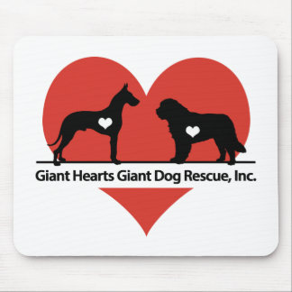 Giant Hearts Giant Dog Rescue Logo Mouse Pad