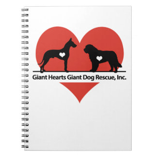 Giant Hearts Giant Dog Rescue Logo Notebooks