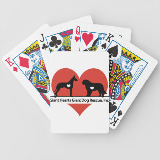 Giant Hearts Giant Dog Rescue Logo Poker Deck