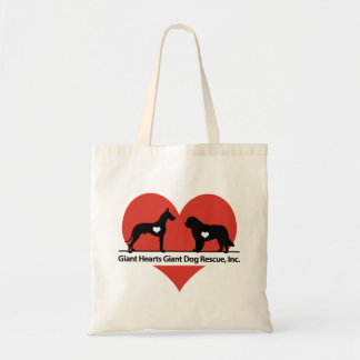 Giant Hearts Giant Dog Rescue Logo Tote Bag