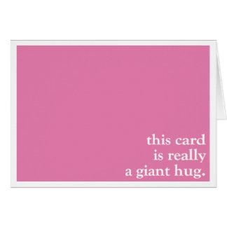 Giant Hug Pink Sympathy Card
