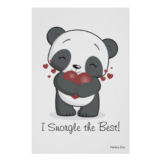 Giant 'I Snorgle the Best!' Panda Poster