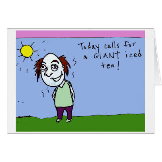Giant iced tea card