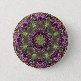 Giant Ironweed, Wildflower Kaleidoscope 2 Inch Round Button