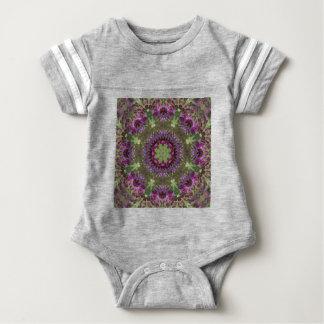 Giant Ironweed, Wildflower Kaleidoscope Baby Bodysuit