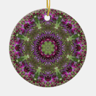 Giant Ironweed, Wildflower Kaleidoscope Ceramic Ornament