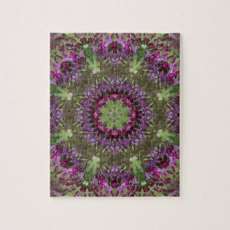 Giant Ironweed, Wildflower Kaleidoscope Jigsaw Puzzle