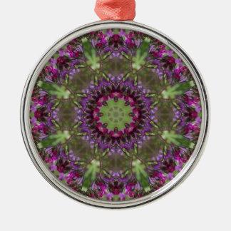 Giant Ironweed, Wildflower Kaleidoscope Metal Ornament