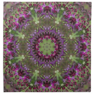 Giant Ironweed, Wildflower Kaleidoscope Napkin