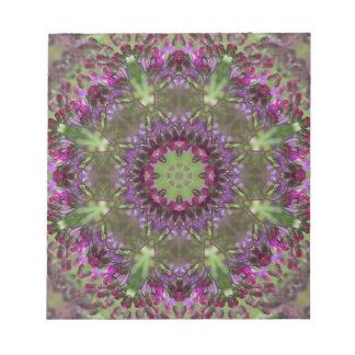 Giant Ironweed, Wildflower Kaleidoscope Notepad