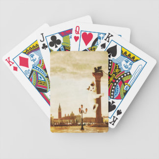 Giant Kitten in Venice Bicycle Playing Cards