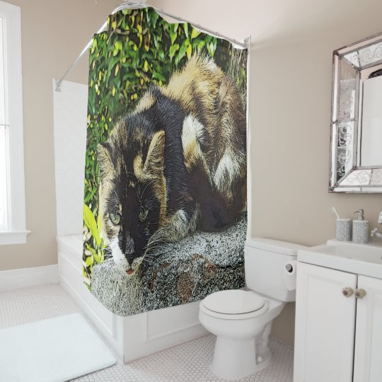 """GIANT KITTY"" SHOWER CURTAIN"