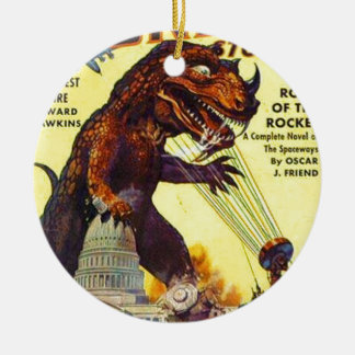 giant Lizard Monster Ceramic Ornament