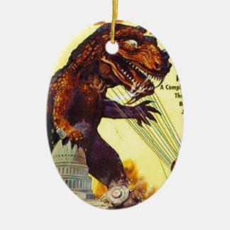 giant Lizard Monster Ceramic Ornament