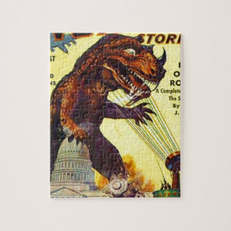 giant Lizard Monster Jigsaw Puzzle
