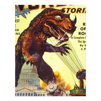 giant Lizard Monster Letterhead