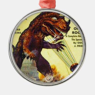 giant Lizard Monster Metal Ornament