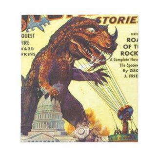 giant Lizard Monster Notepad