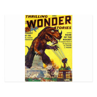 giant Lizard Monster Postcard