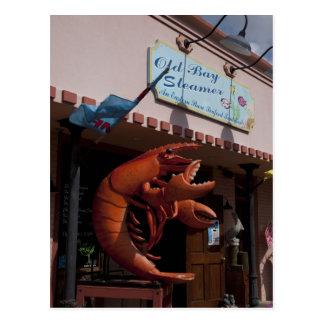 Giant lobster, seafood, Fairhope Alabama Postcard