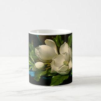 Giant Magnolias on a Blue Velvet Cloth Mug