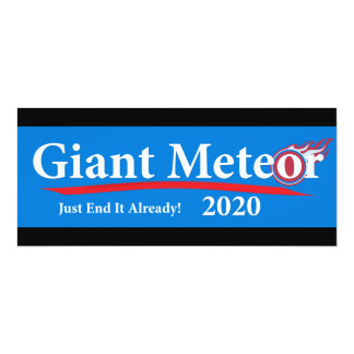 Giant Meteor 2020 Just End It Already! Card