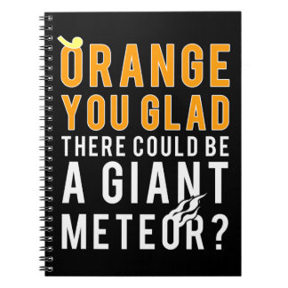 Giant Meteor Candidate Orange You Glad? Note Books