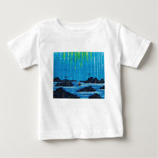 Giant misty forest by river baby T-Shirt