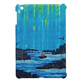 Giant misty forest by river iPad mini case