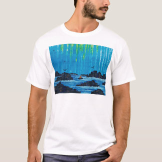 Giant misty forest by river T-Shirt