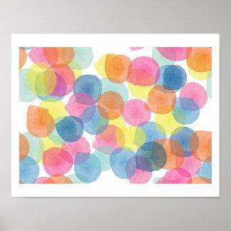 Giant Multi Colour Confetti Print