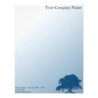 Giant Oak on a Field of Blue Letterhead
