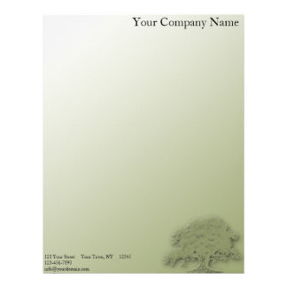 Giant Oak on a Field of Green Letterhead