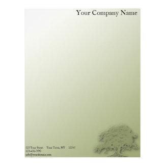 Giant Oak on a Field of Green Customized Letterhead