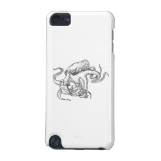 Giant Octopus Fighting Astronaut Tattoo iPod Touch (5th Generation) Cases