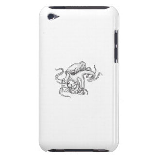 Giant Octopus Fighting Astronaut Tattoo iPod Touch Case-Mate Case