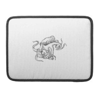 Giant Octopus Fighting Astronaut Tattoo MacBook Pro Sleeve
