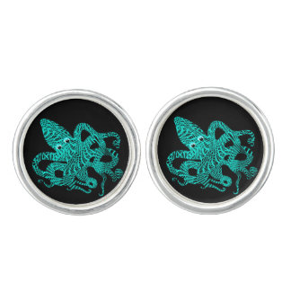 Giant Octopus Nautical Creature Graphic Cuff Links