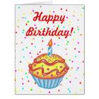 Giant Oversized Cupcake Happy Birthday Card