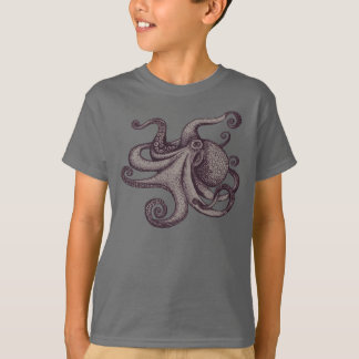 Giant Pacific Octopus Ink Sketch T-Shirt