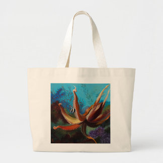 Giant Pacific Octopus Large Tote Bag