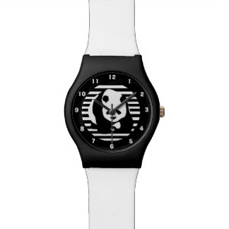 Giant Panda and Stripes Wrist Watch