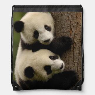 Giant panda babies (Ailuropoda melanoleuca) 2 Drawstring Backpack