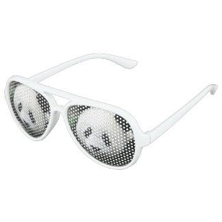 Giant Panda Bear Aviator Sunglasses