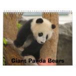 Giant Panda Bear Calendar, Giant Panda Bears Wall Calendar