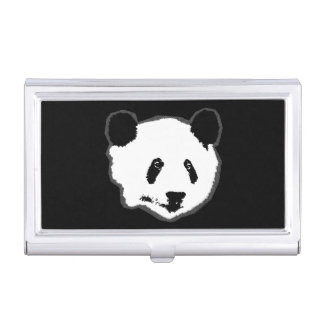 Giant Panda Bear Face Case For Business Cards