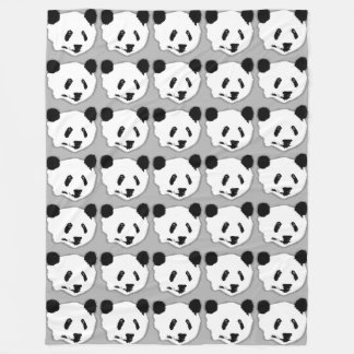Giant Panda Bear Face Fleece Blanket