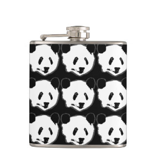 Giant Panda Bear Face Hip Flask
