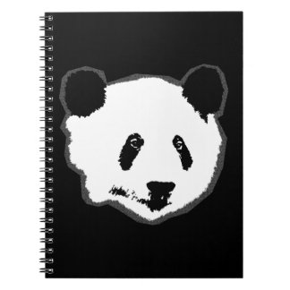 Giant Panda Bear Face Spiral Notebook